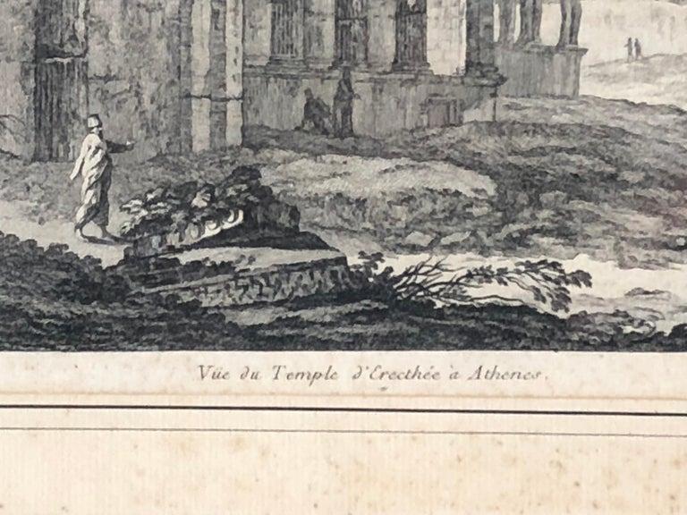 French Set of 5 Engravings, 'Les Ruines De Grece' 1758, by Julien Le Roy For Sale
