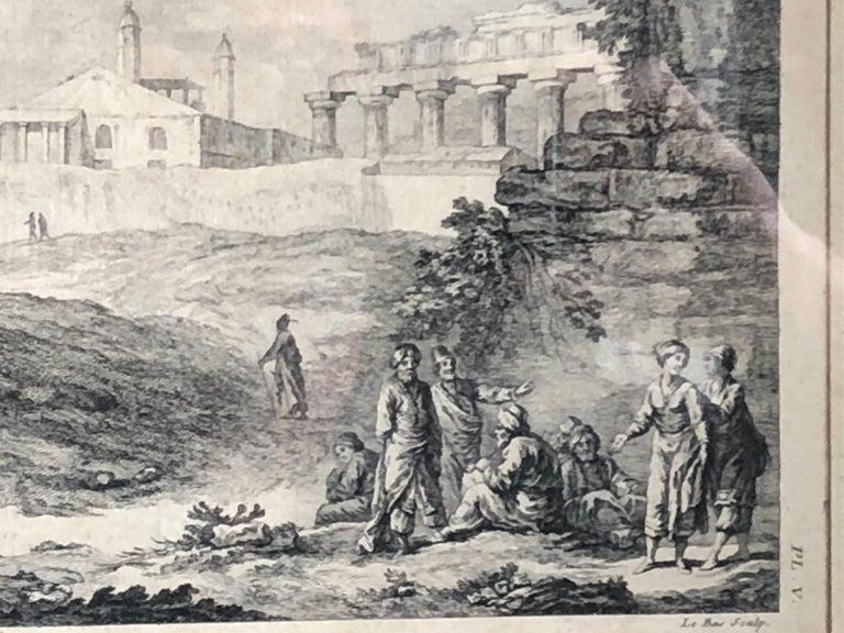 Engraved Set of 5 Engravings, 'Les Ruines De Grece' 1758, by Julien Le Roy For Sale