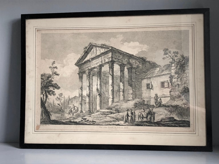 Set of 5 Engravings, 'Les Ruines De Grece' 1758, by Julien Le Roy In Good Condition For Sale In Doylestown, PA