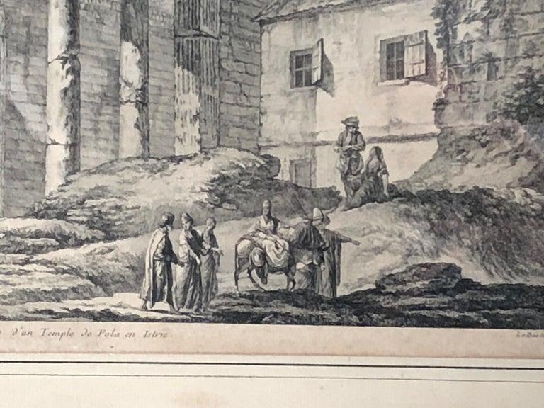 18th Century Set of 5 Engravings, 'Les Ruines De Grece' 1758, by Julien Le Roy For Sale