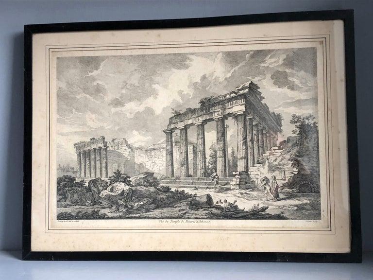 Paper Set of 5 Engravings, 'Les Ruines De Grece' 1758, by Julien Le Roy For Sale