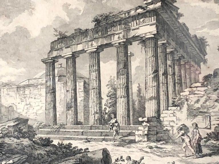 Set of 5 Engravings, 'Les Ruines De Grece' 1758, by Julien Le Roy For Sale 1