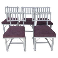 Set of 5 Ficks Reed Bamboo Chairs by John Wisner