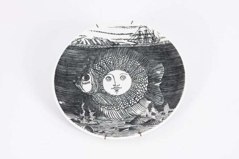 Set of 5 Fornesetti Decorative Plates For Sale 3