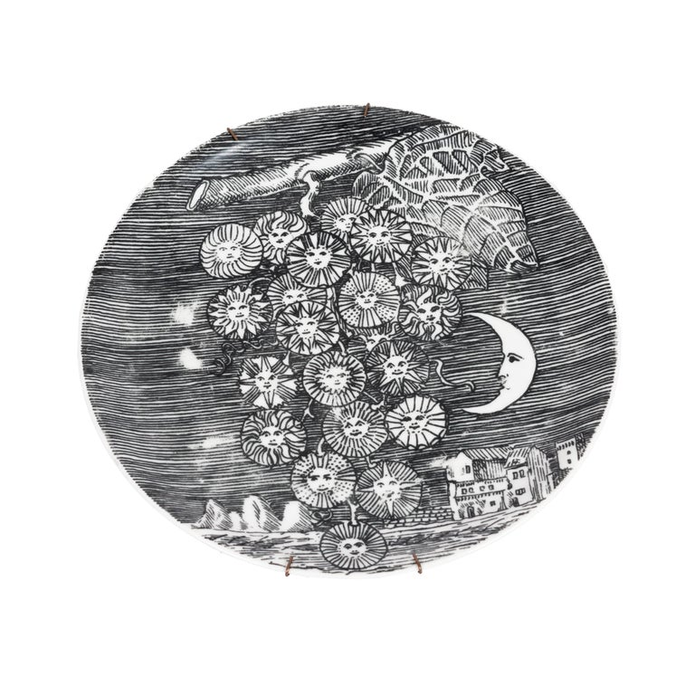 Set of 5 Fornesetti Decorative Plates For Sale 7