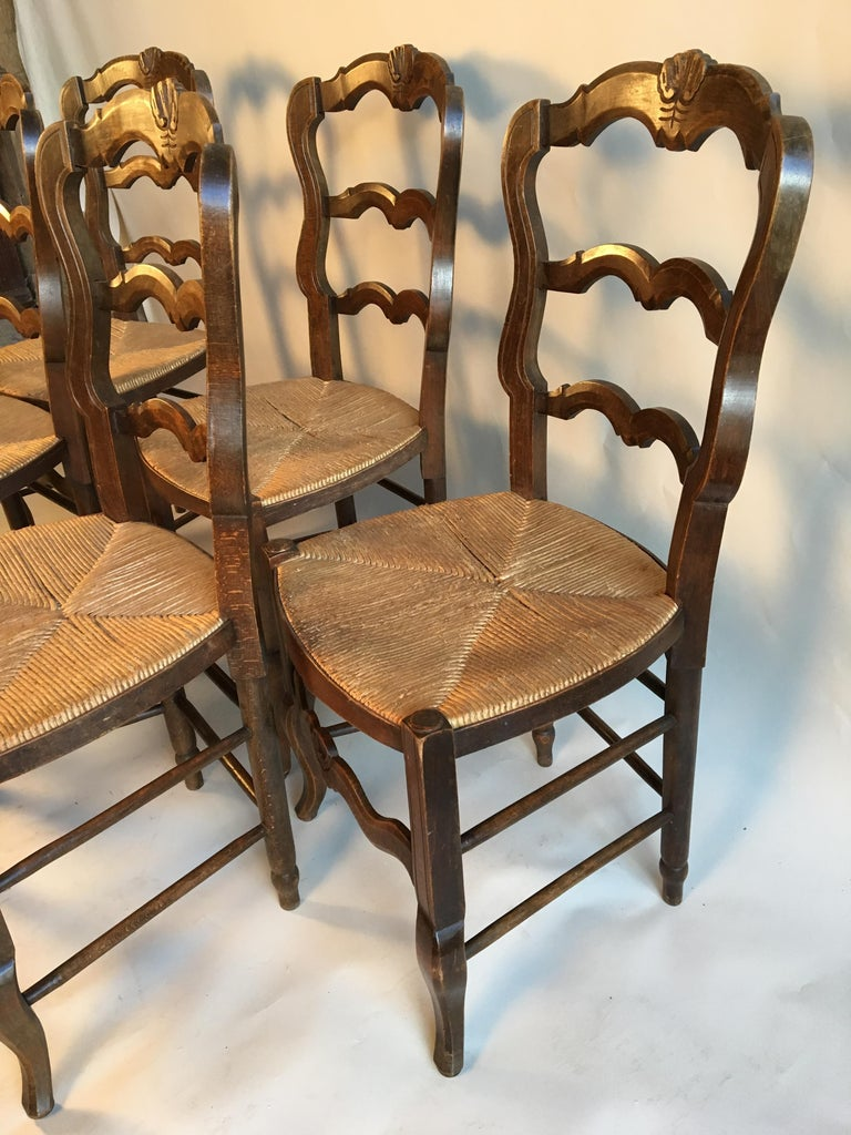 20th Century Set of 5 French Country Chairs For Sale