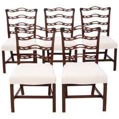 Set of 5 Georgian Revival Mahogany Dining Chairs