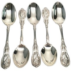 Set of 5 Gorham Mythologique Sterling Silver Teaspoons Multi Monos