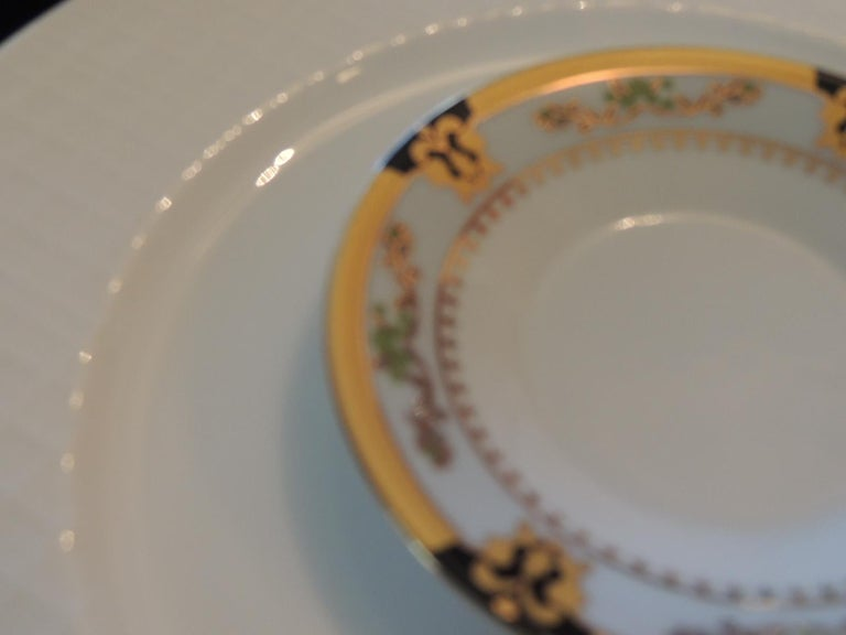 European Set of 5 Hand Painted Porcelain Coasters For Sale