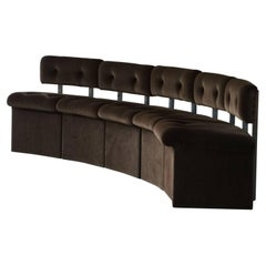 Set of 5 Italian Modern Modular Lounge Chairs, Late 20th Century