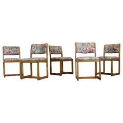 Set of 5 Mid-Century Danish Modern Teak Side Dining Chairs