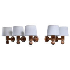 Set of 5 Uno & Osten Kristiansson Wall Lamps for Luxus