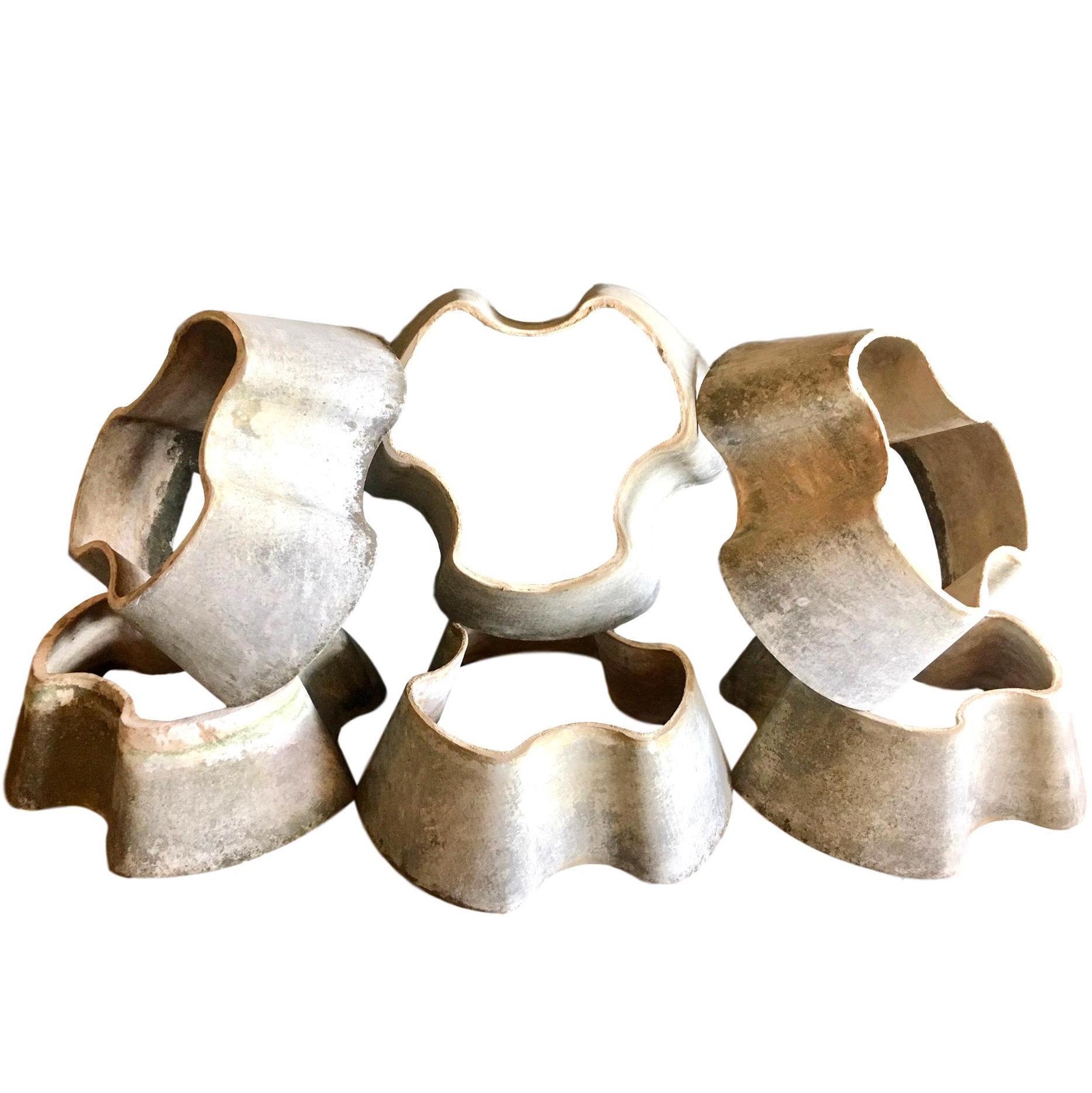 Set of 5 Willy Guhl Flower Pots