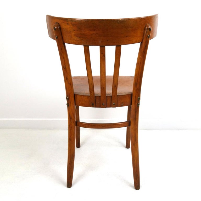 Set of 5 Wooden Dining Chairs Made by KOK For Sale 4