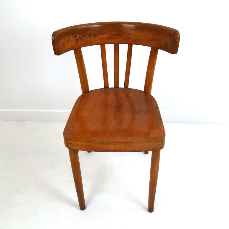 Mid-Century Modern Set of 5 Wooden Dining Chairs Made by KOK For Sale