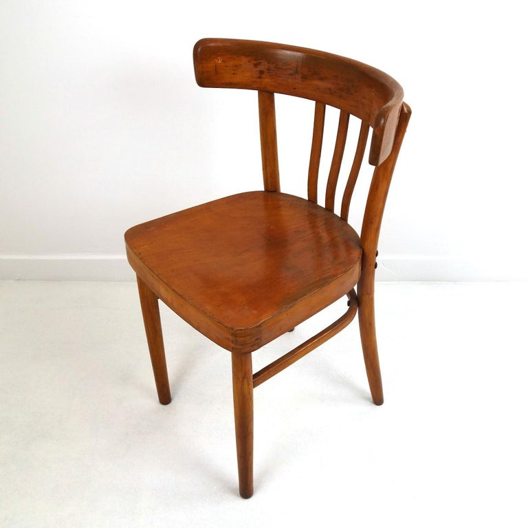 Dutch Set of 5 Wooden Dining Chairs Made by KOK For Sale