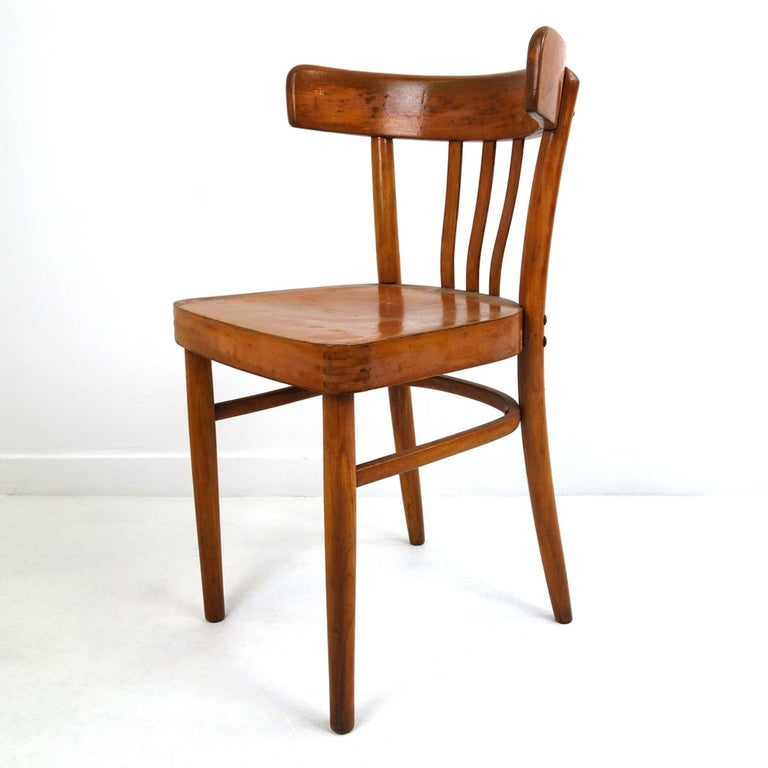 Set of 5 Wooden Dining Chairs Made by KOK In Good Condition For Sale In Doornspijk, NL