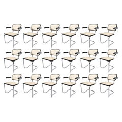 "Set of 50 Marcel Breuer Bauhaus ""Cesca"" Armchairs, Manufactured in Italy"