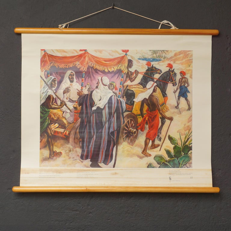 Set of 57 Bellarminus Biblical Sunday School Posters in Canvas Pouches, 1950 For Sale 4