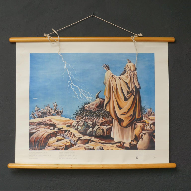 Set of 57 Bellarminus Biblical Sunday School Posters in Canvas Pouches, 1950 For Sale 5