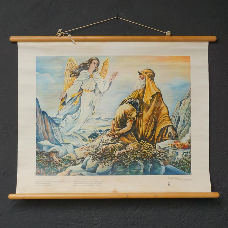 Set of 57 Bellarminus Biblical Sunday School Posters in Canvas Pouches, 1950 For Sale 7