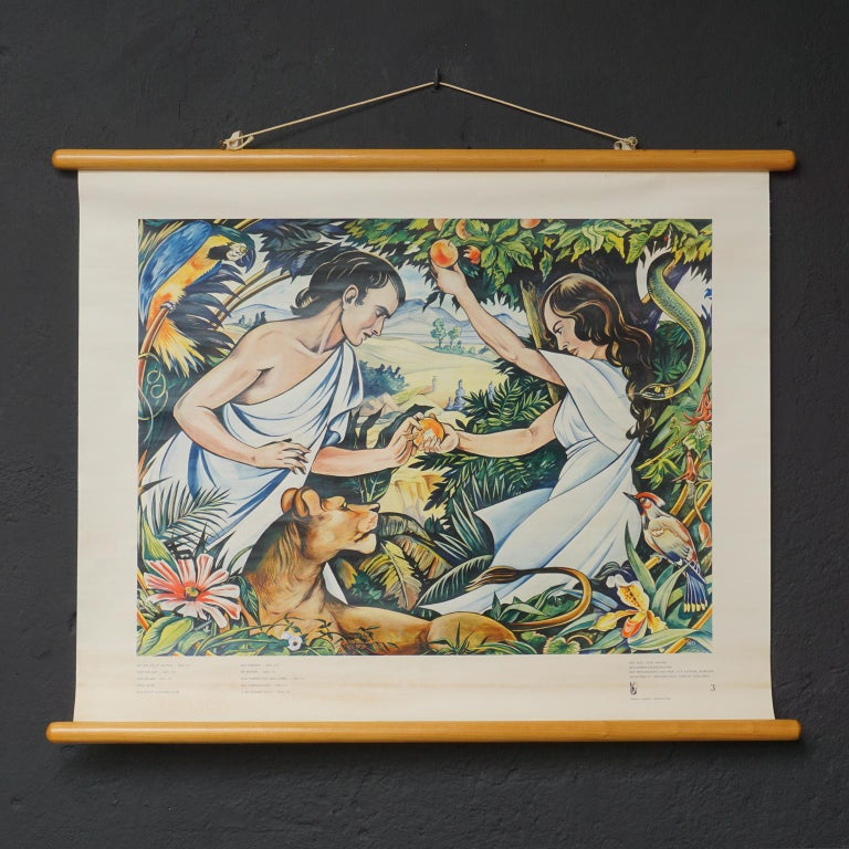 Set of 57 Bellarminus Biblical Sunday School Posters in Canvas Pouches, 1950 For Sale 8