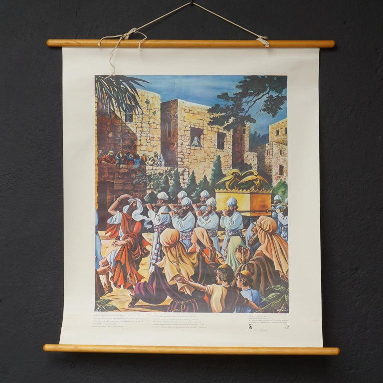 Set of 57 Bellarminus Biblical Sunday School Posters in Canvas Pouches, 1950 For Sale 9