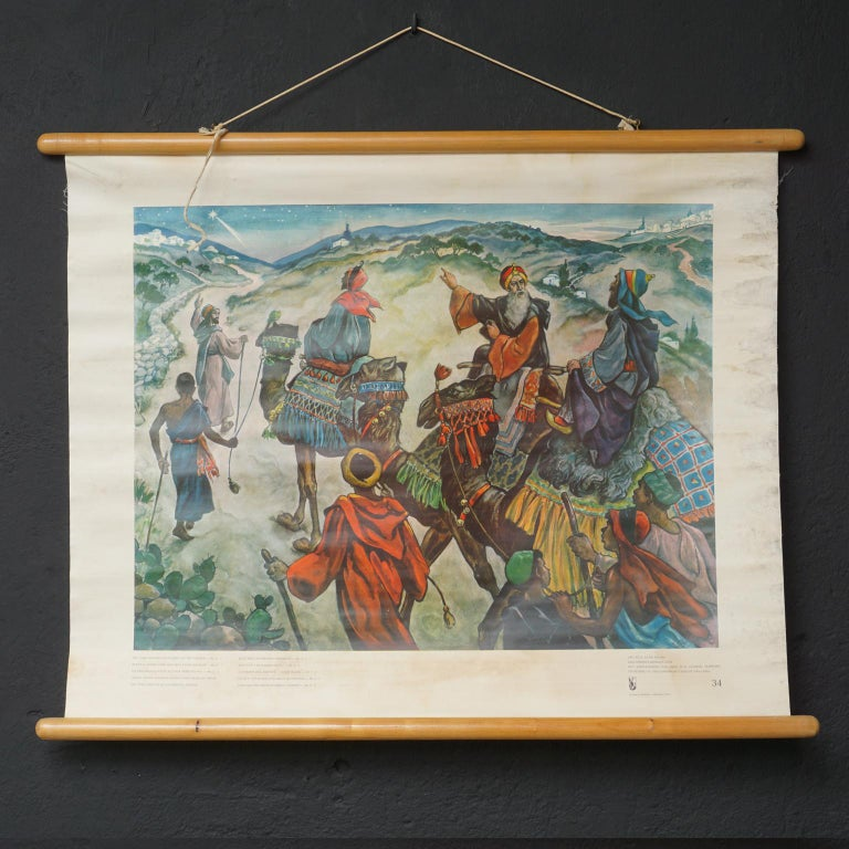 Set of 57 Bellarminus Biblical Sunday School Posters in Canvas Pouches, 1950 For Sale 10