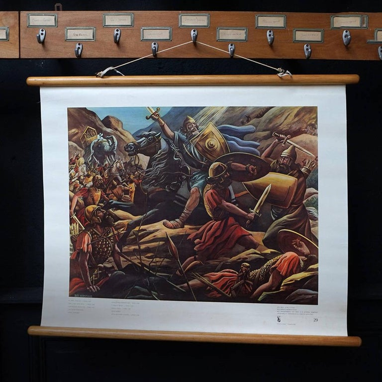 Set of 57 Bellarminus Biblical Sunday School Posters in Canvas Pouches, 1950 In Good Condition For Sale In Haarlem, NL