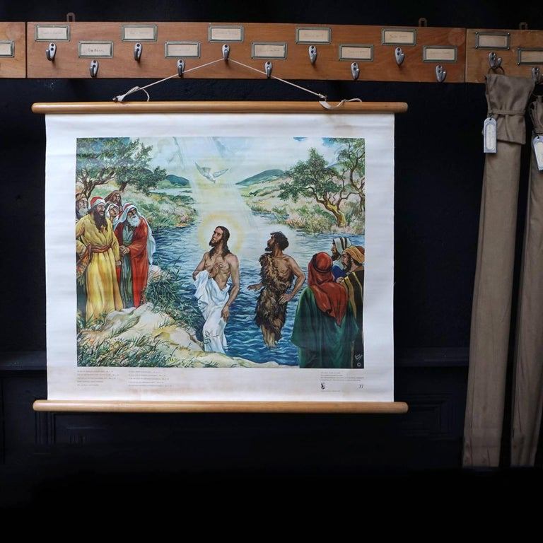 Set of 57 Bellarminus Biblical Sunday School Posters in Canvas Pouches, 1950 For Sale 1