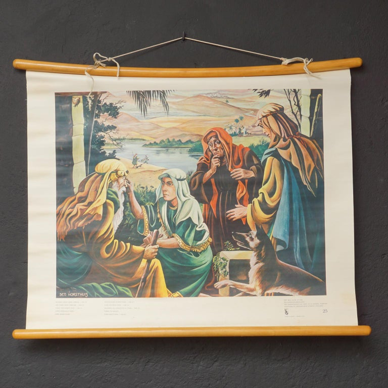 Set of 57 Bellarminus Biblical Sunday School Posters in Canvas Pouches, 1950 For Sale 2