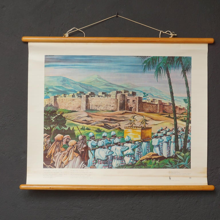 Set of 57 Bellarminus Biblical Sunday School Posters in Canvas Pouches, 1950 For Sale 3