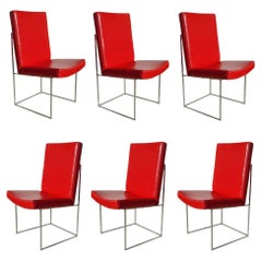 Set of 6 1187 Milo Baughman Thin Line Dining Chairs