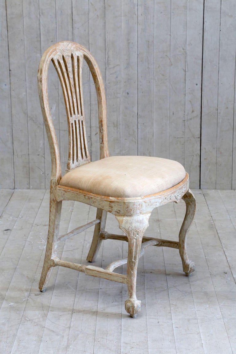 Gustavian Set of 6 18th Century Swedish Dining Chairs For Sale