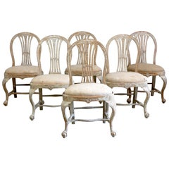 Set of 6 18th Century Swedish Dining Chairs