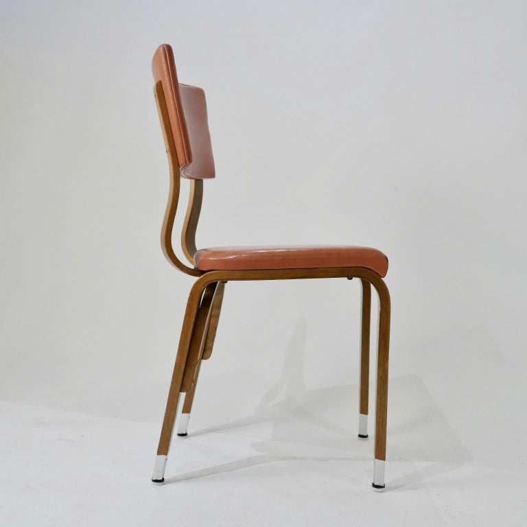Marvelous Set Of 6 1950S Thonet Padded Bentwood Bent Plywood Dining Cafe Or Desk Chairs Uwap Interior Chair Design Uwaporg
