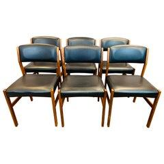 Set of 6 1960s Danish Hugo Frandsen Spøttrup Stolefabrik Rosewood Dining Chairs