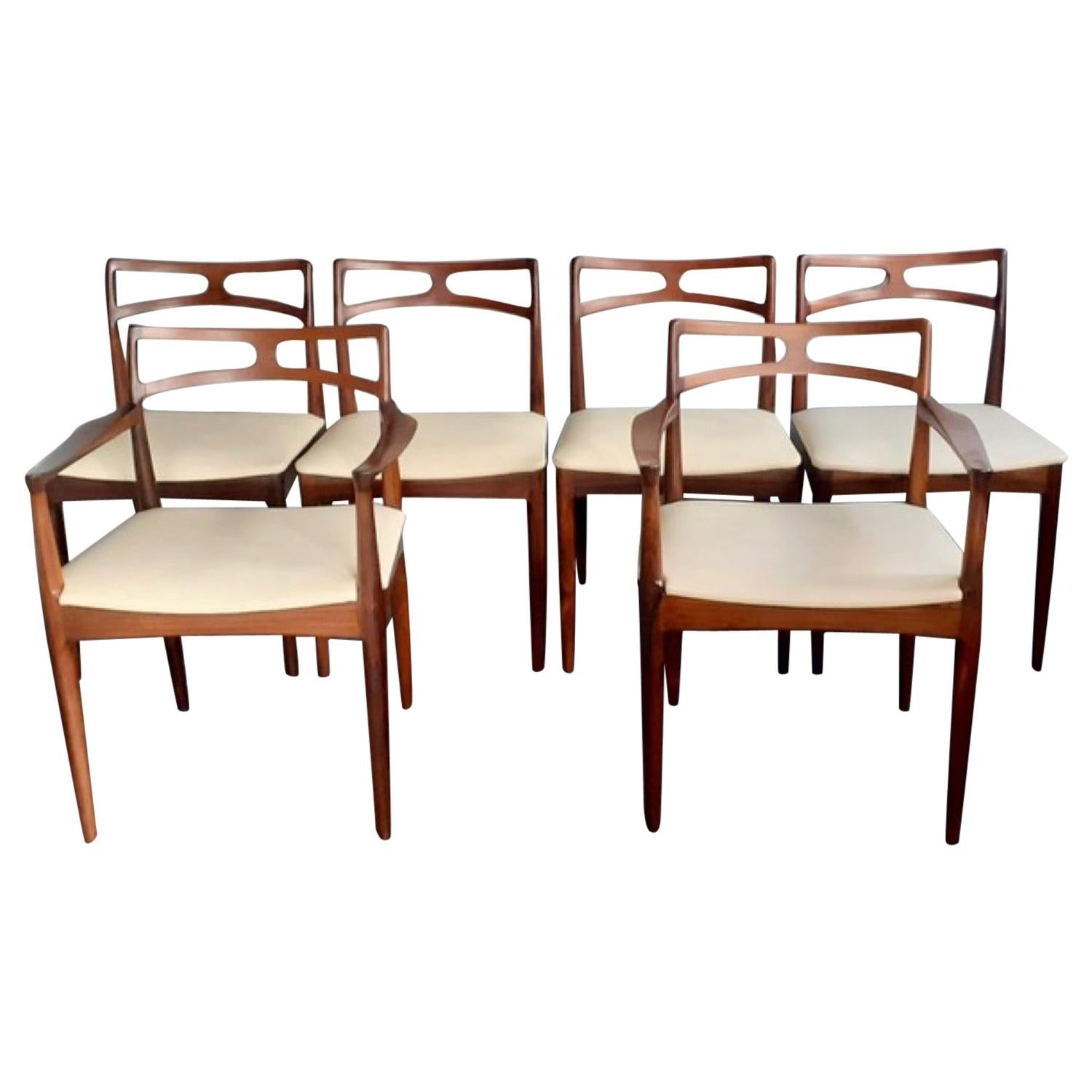 Set of 6 1960s Danish Rosewood Dining Chairs by Johannes Andersen Model 94