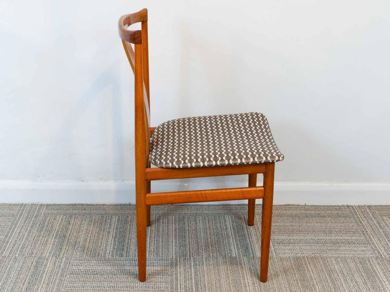 Set of 6 1960s Danish Teak Dining Chairs by Henning Sorensen for Danex For Sale 4
