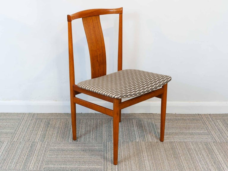 Set of 6 1960s Danish Teak Dining Chairs by Henning Sorensen for Danex For Sale 5