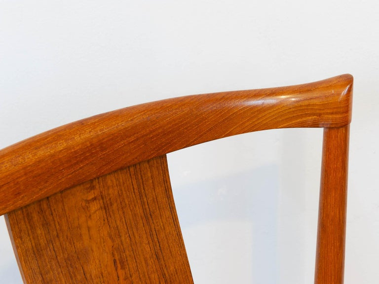 Set of 6 1960s Danish Teak Dining Chairs by Henning Sorensen for Danex For Sale 6
