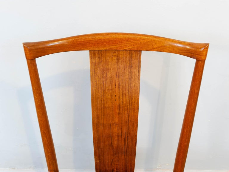 Set of 6 1960s Danish Teak Dining Chairs by Henning Sorensen for Danex For Sale 7
