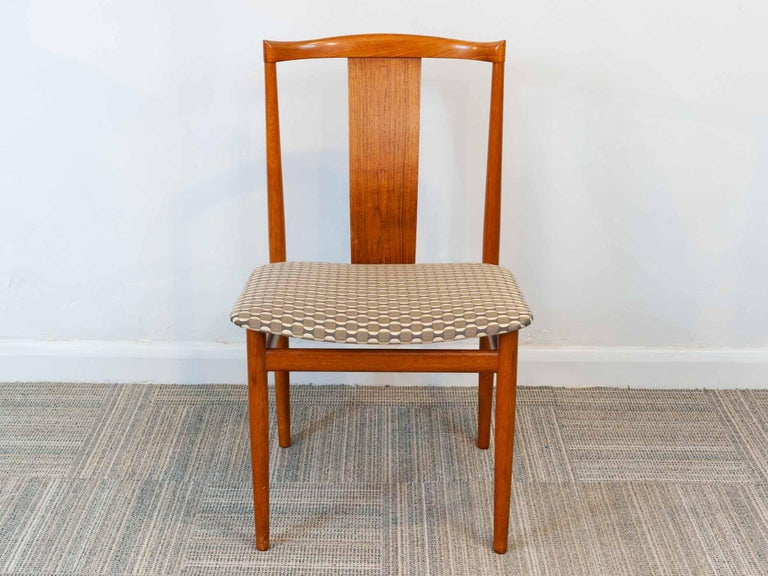 Set of 6 1960s Danish Teak Dining Chairs by Henning Sorensen for Danex In Good Condition For Sale In London, GB