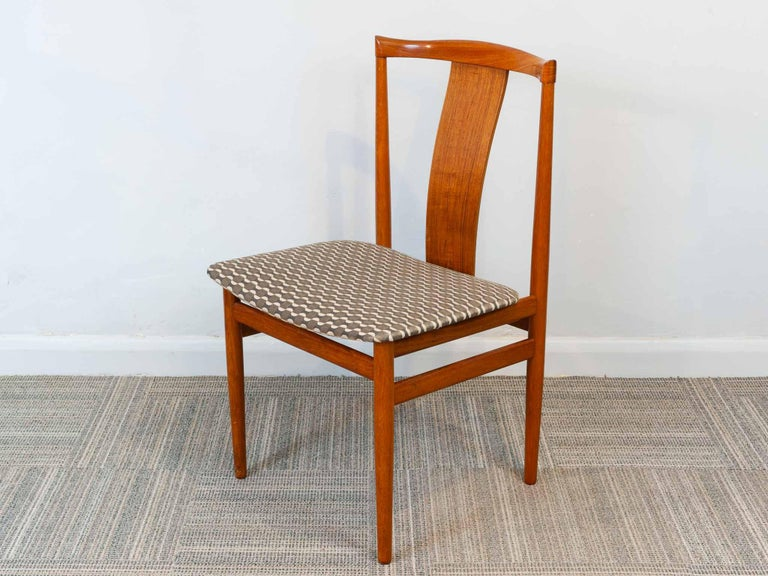 20th Century Set of 6 1960s Danish Teak Dining Chairs by Henning Sorensen for Danex For Sale