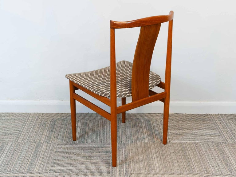 Set of 6 1960s Danish Teak Dining Chairs by Henning Sorensen for Danex For Sale 1