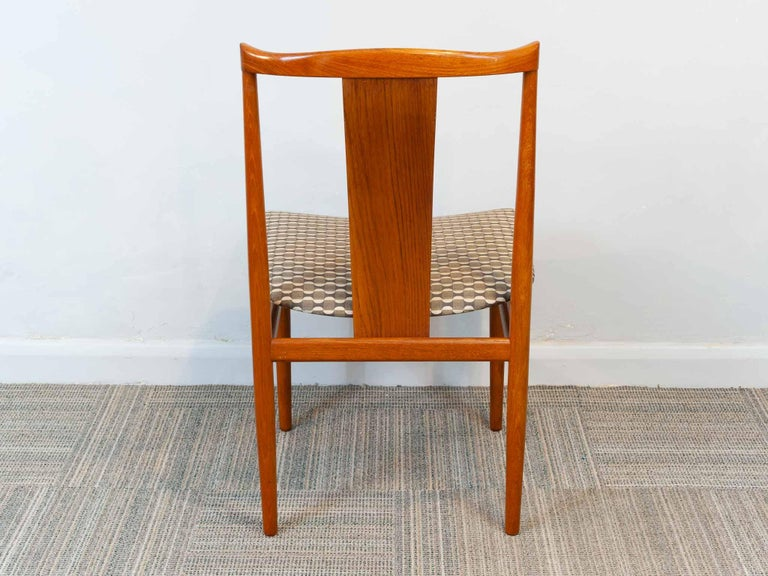 Set of 6 1960s Danish Teak Dining Chairs by Henning Sorensen for Danex For Sale 2
