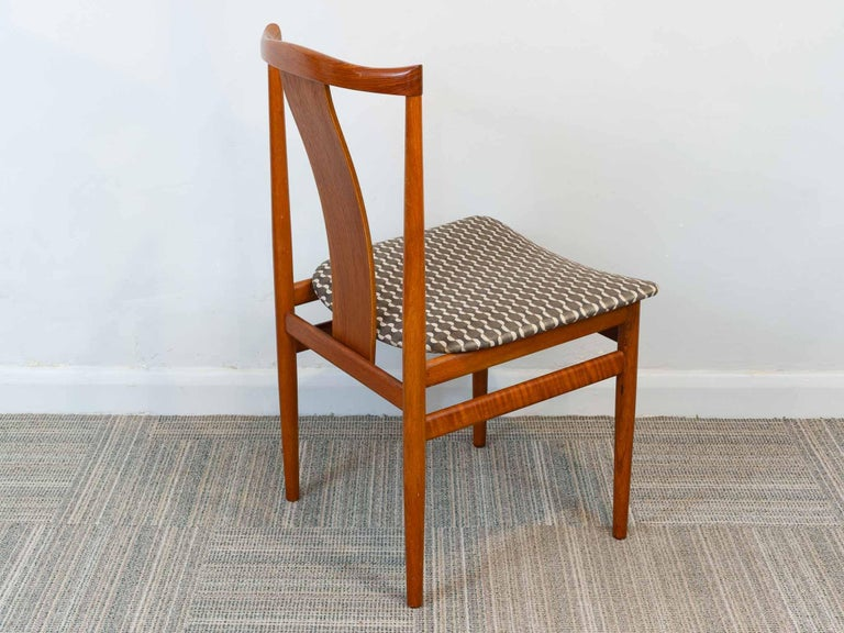 Set of 6 1960s Danish Teak Dining Chairs by Henning Sorensen for Danex For Sale 3