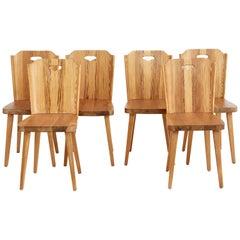 Set of 6 1960s Swedish Pine Dining Chairs