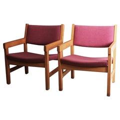 Set aus 6 1970er Dänischen Stühlen aus der Jahrhundertmitte von Hans J Wegner