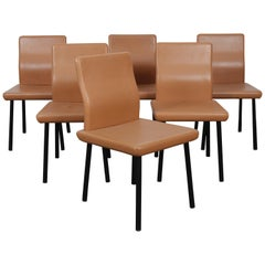 Set of 6 1980s Memphis Dining Chairs Model 'Mandarin' by Ettore Sottsass